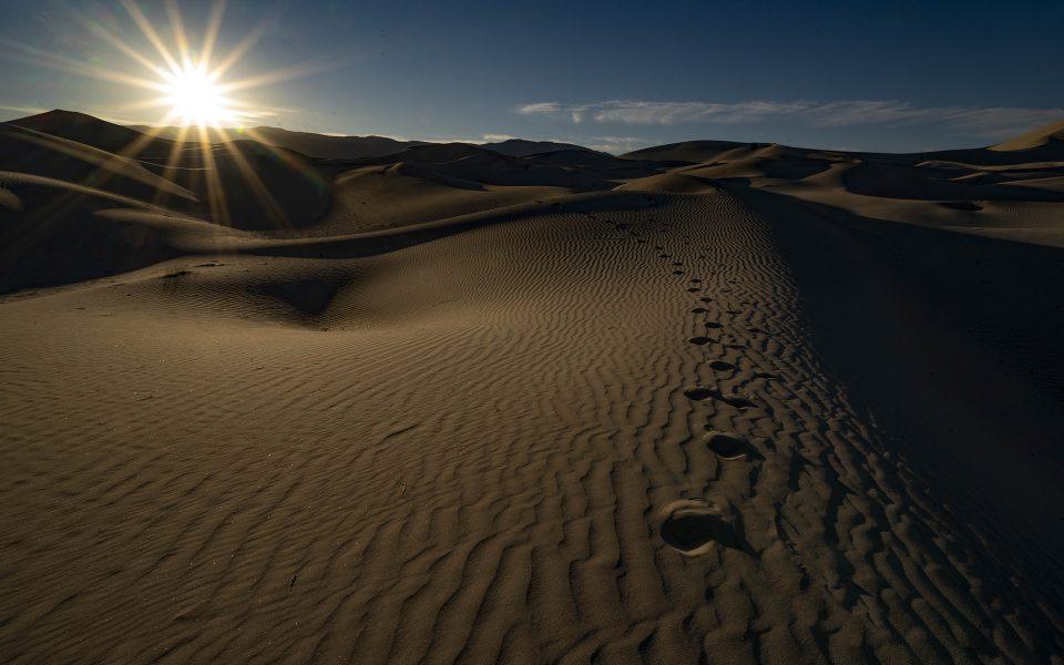 Sunset at the Eureka Dunes - Truman Holtzclaw