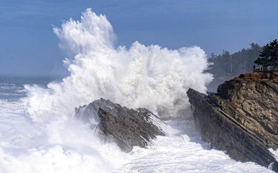 Crashing Waves on the Oregon Coast - Jan Lightfoot