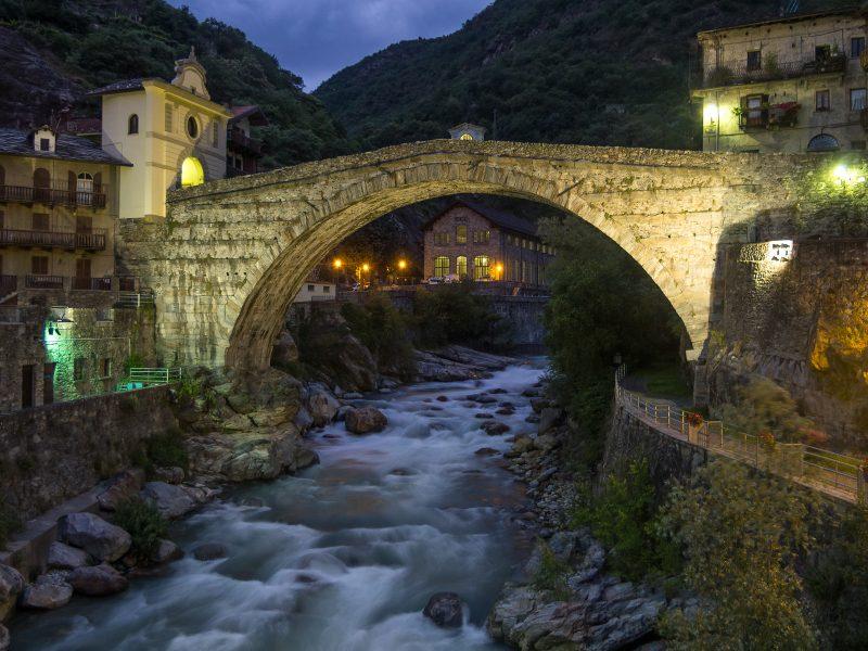 Roman Bridge over Dora Baltea River Aoste Italy - Doug Arnold