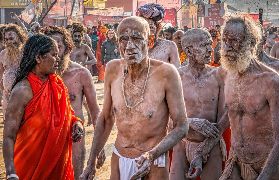 Sadhu Holy Men at Kumbh Mela Festival Allahabad India - Don Goldman