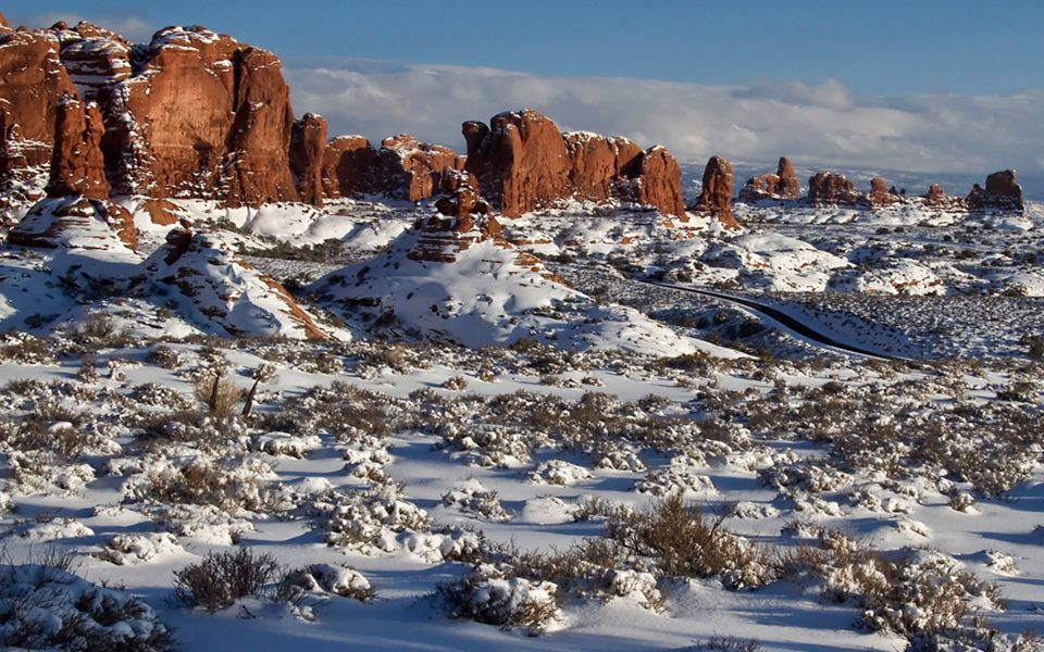 Arches NP in Snow - Dave Kent