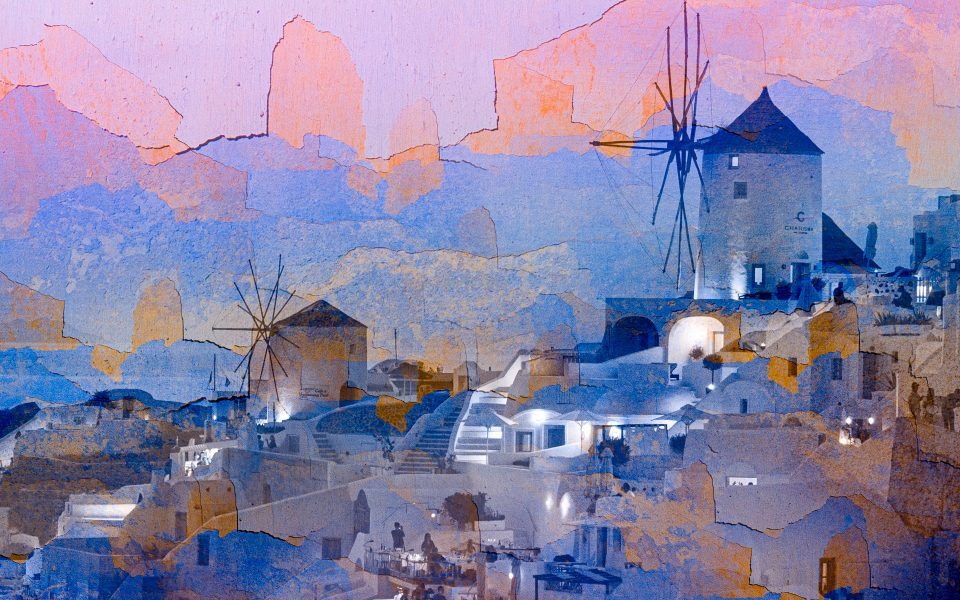 Santorini Sunset - Jan Lightfoot