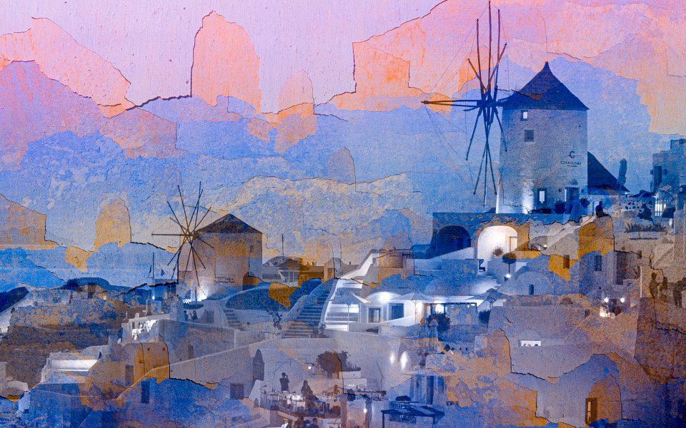Santorini Sunset - Jan Lightfoot
