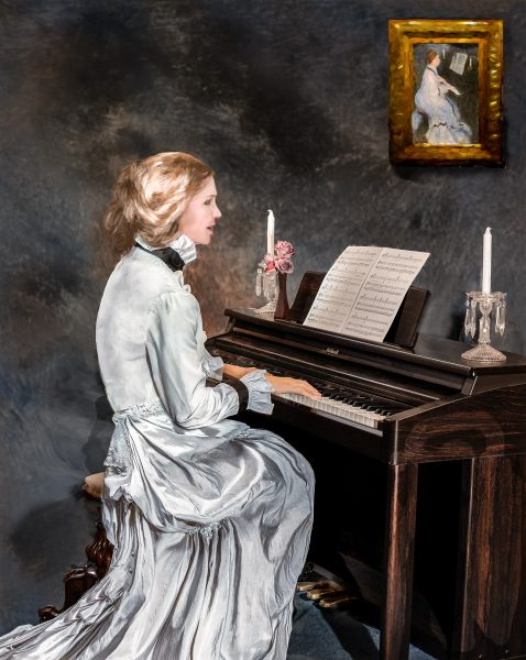 Lady at the Piano - Lucille Van Ommering