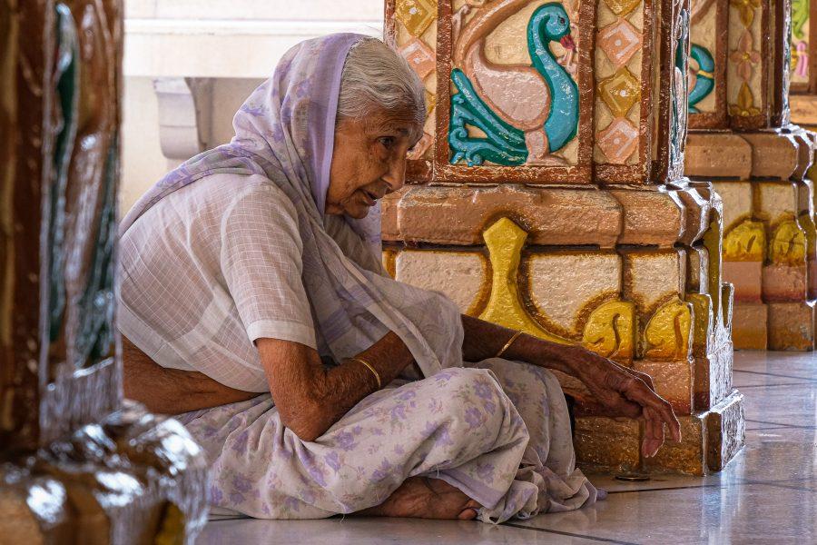 Elderly Hindu Woman Praying Amedabad,India - Theo Goodwin