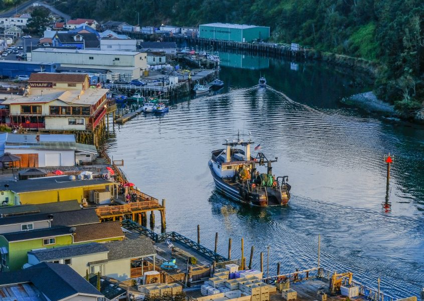 Sunset Return to Noyo Harbor - Steve Papinchak