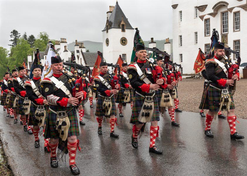 Atholl Highlanders at Blair Castle Scotland - Pat Honeycutt