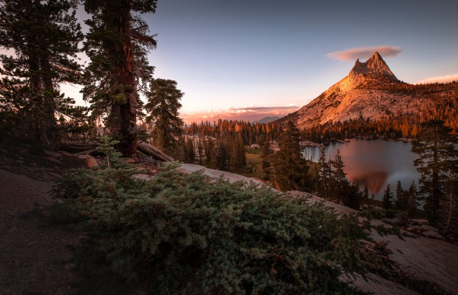 Upper Cathedral Lake at Sunset - Matt Estrada