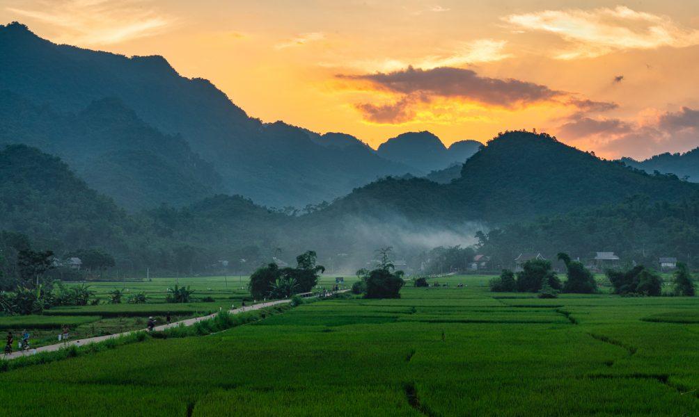 Mai Chau Sunset Vietnam - Don Goldman