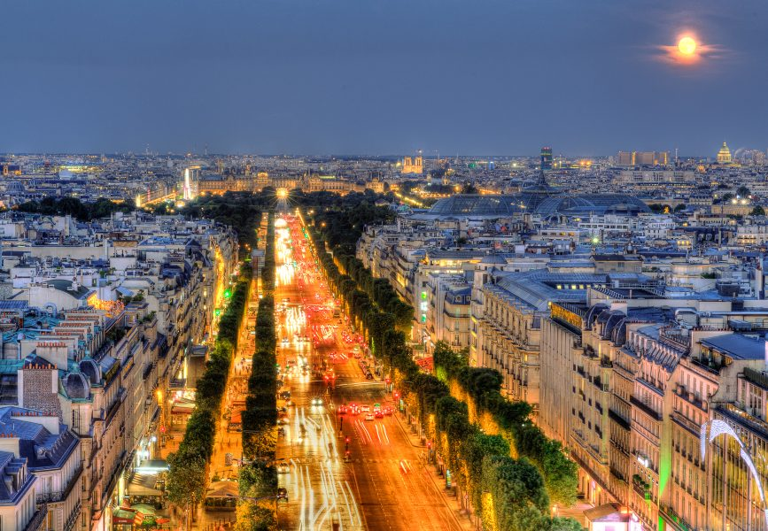 Champs Elysee and Notre Dame from Arc de Triomphe - Doug Arnold