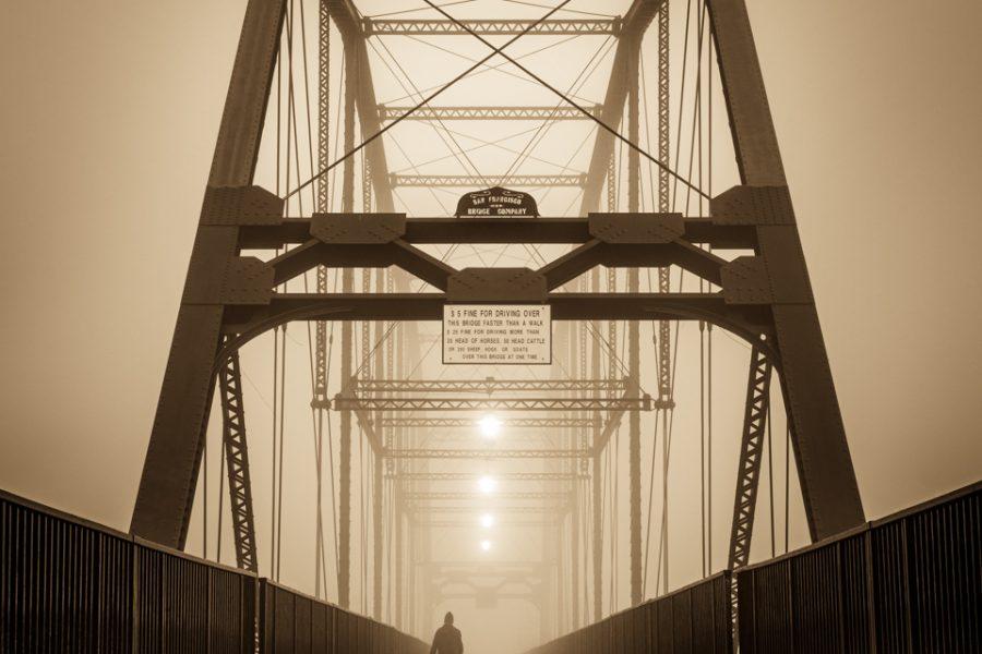 Away - Historic Folsom Truss Bridge - Takeshita Hayata