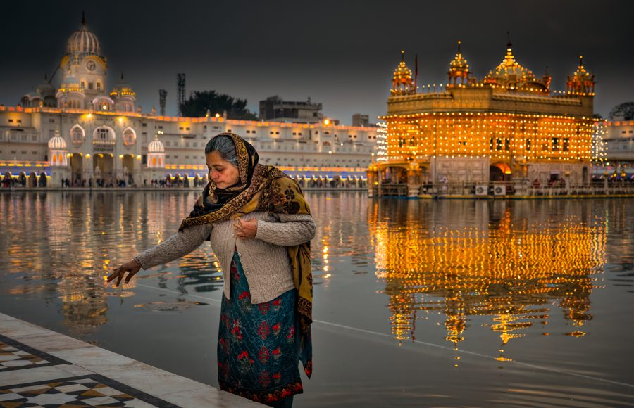 Evening at Golden Temple Amritsar India - Don Goldman