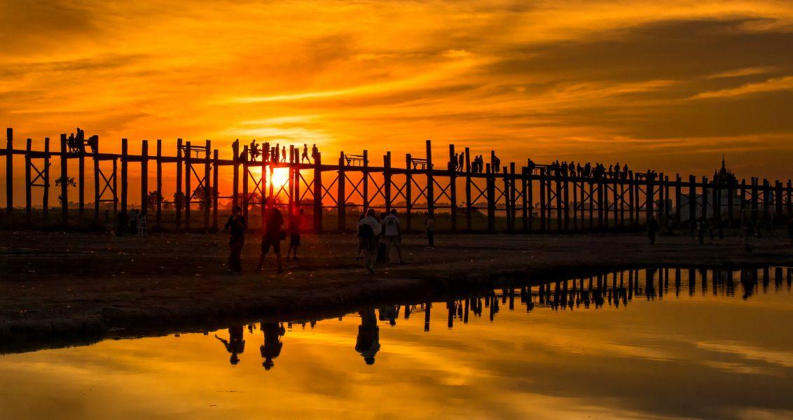 U_bein Bridge Sunset Myanmar - Don Goldman