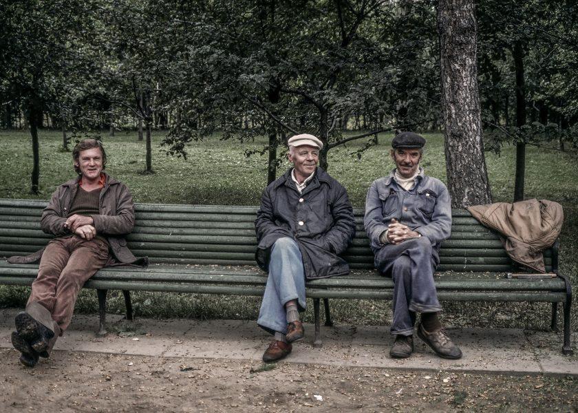 Three Men on a Bench - Kathleen Grady