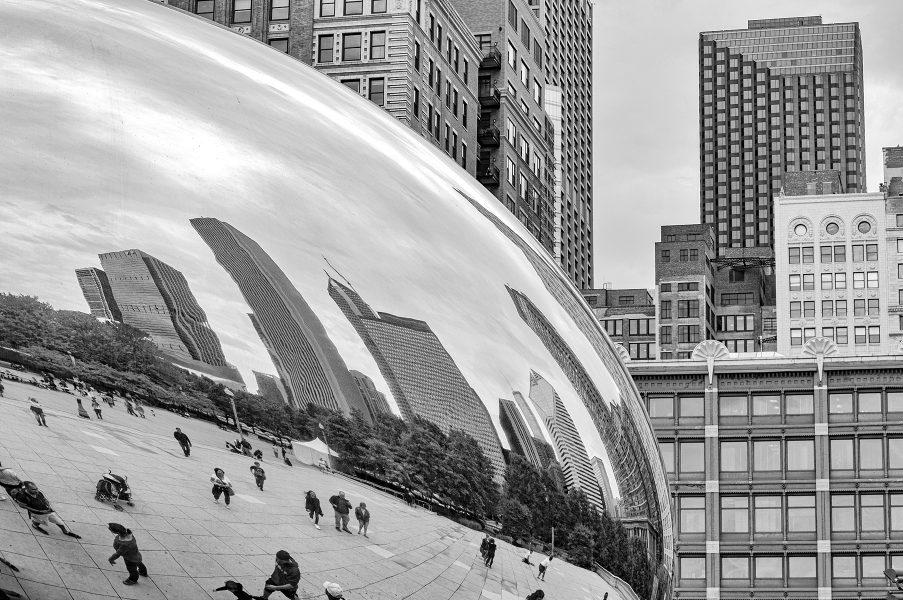 Cloud Gate Sculpture Chicago - Pat Honeycutt