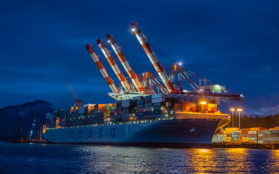 Container Ship in St. Petersburg Alaska - Gary Cawood