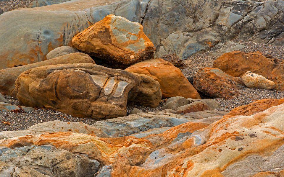 Colorful Rock Formations at Point Lobos - Julius Kovatch