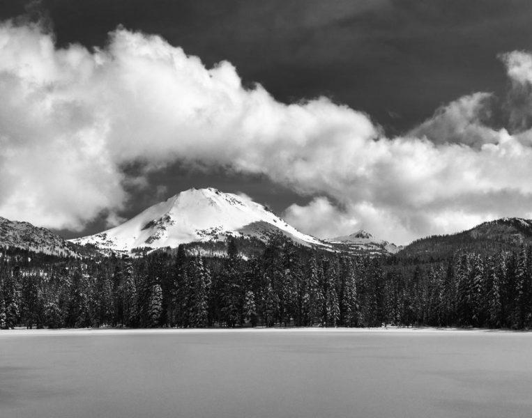 Lassen Peak Through the Clouds - Aaron Vizzini