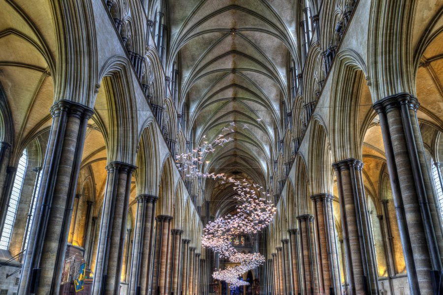 Origami Mobile in Salisbury Cathedral - Doug Arnold