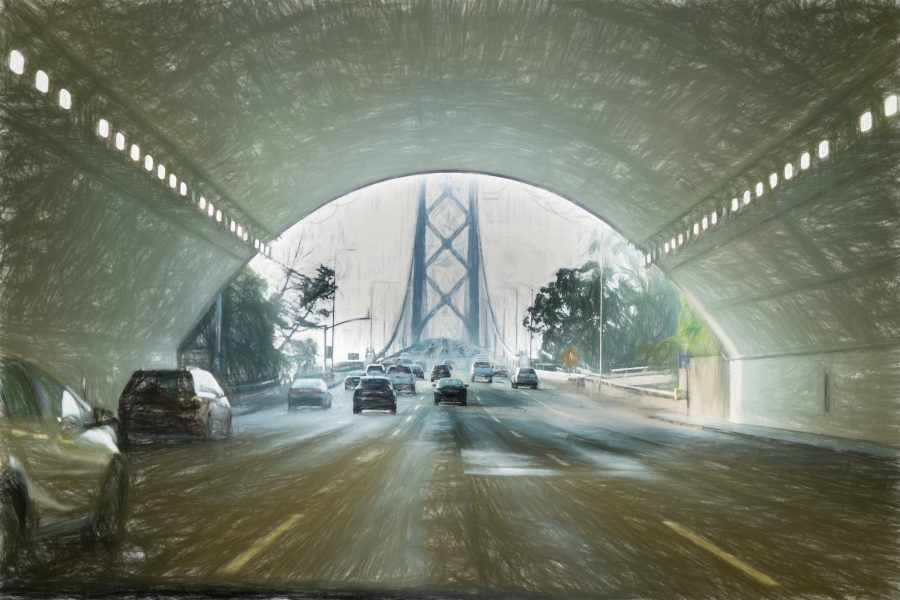 Entering the Bay Bridge - Irene Berger