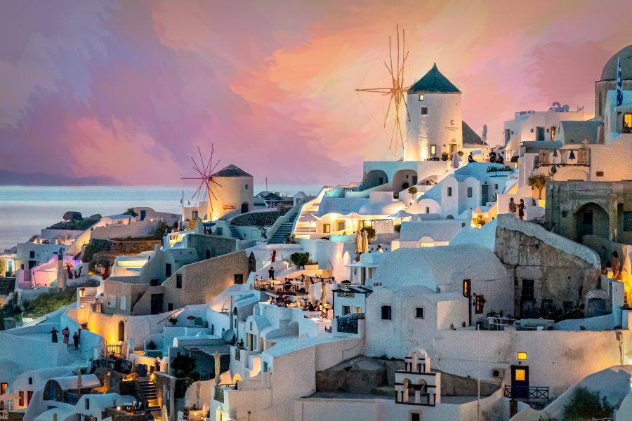 Santorini Sunset 2 - Jan Lightfoot