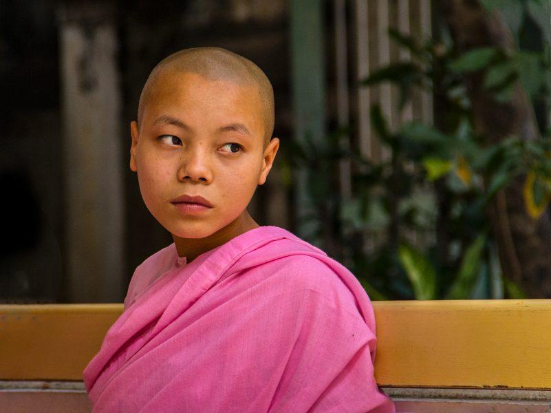 Young Novice Nun in Myanmar - Gary Cawood