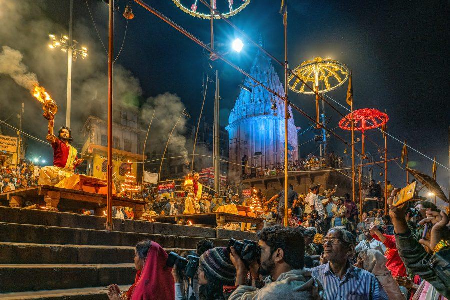 Aarti Festival Varanasi India - Don Goldman
