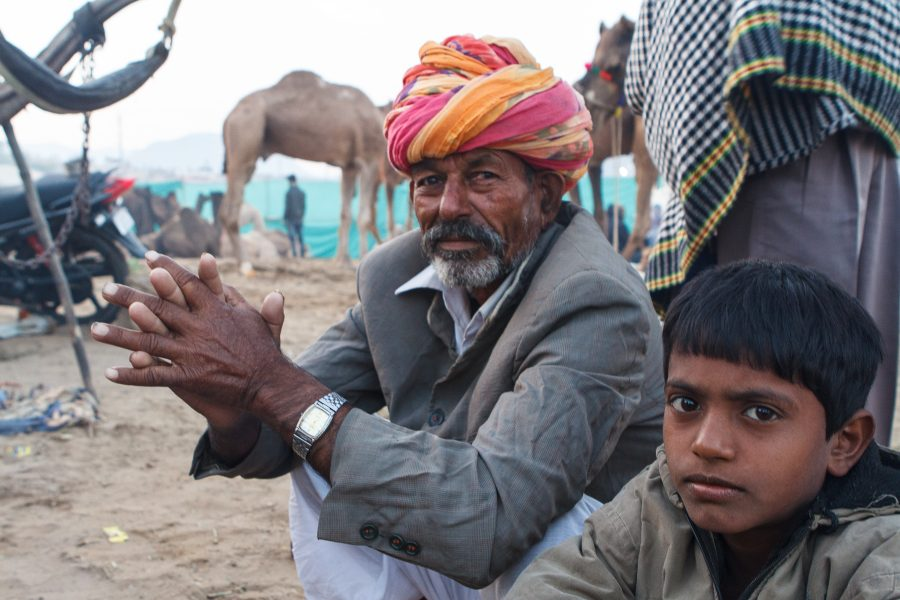 Camel Herder and Son, Pushkar India - Theo Goodwin