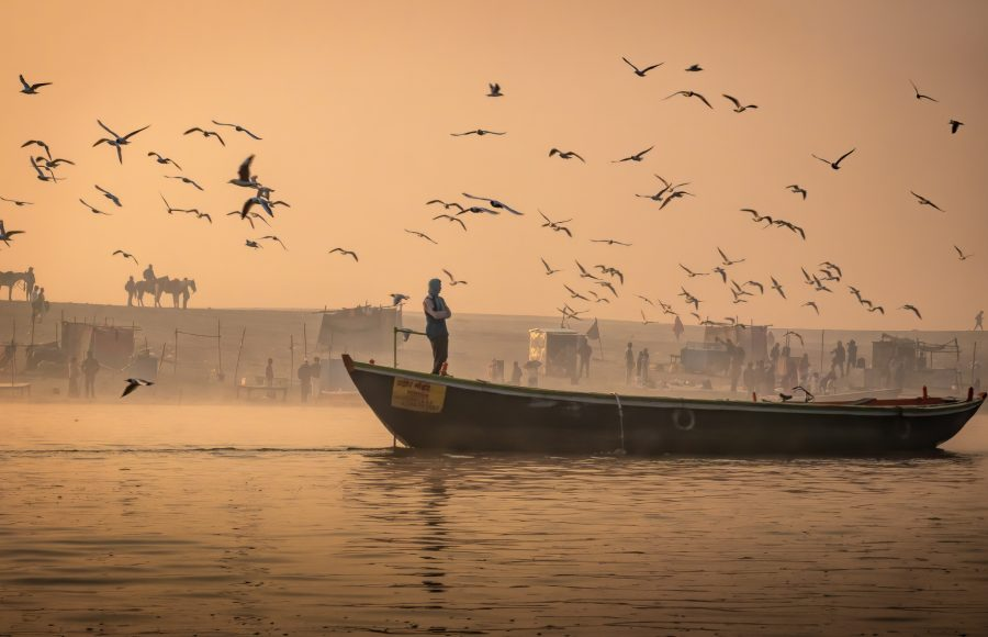 Ganges Sunrise Awaiting Customers - Don Goldman