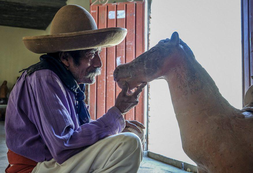 Blind Artisan Oaxaca - Kathleen Grady